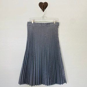 CHRISTOPHER & BANKS Black/White Pleated Skirt